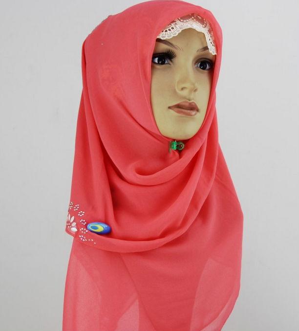 新しいデザインイスラム教のスカーフパリ糸イスラム教のヒジャーブ-マフラー、帽子、手袋セット問屋・仕入れ・卸・卸売り