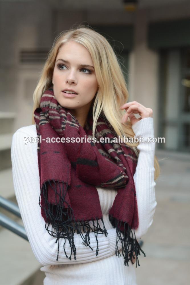 Yael冬新しいシャイアン毛布タッセルスカーフ-マフラー、帽子、手袋セット問屋・仕入れ・卸・卸売り