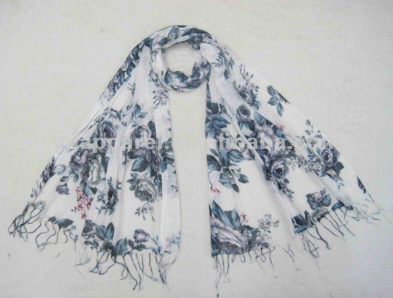 170*60cmの花の女性女性のスカーフのビスコースショールのスカーフのギフト(SCF121110_1903)-マフラー、帽子、手袋セット問屋・仕入れ・卸・卸売り
