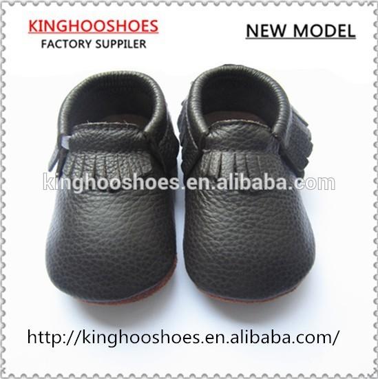 黒ハード唯一の赤ちゃんの最初のステップ赤ちゃんモカシンベビーシューズ-ベビー靴問屋・仕入れ・卸・卸売り