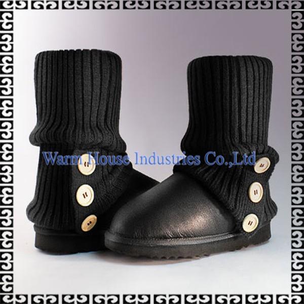 ニットブーツの襟女性用スノーブーツブーツを使用販売のための-革靴問屋・仕入れ・卸・卸売り
