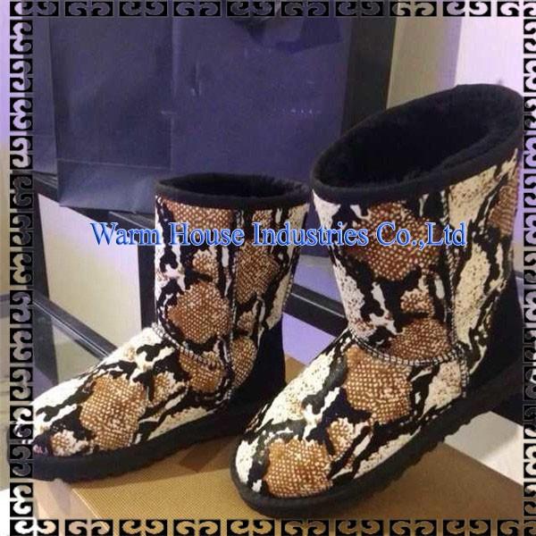 古典的なオーストラリアのsheepksin用スノーブーツ女性のレザーブーツの冬に-革靴問屋・仕入れ・卸・卸売り