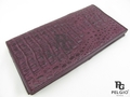 本物の皮膚バイオレットカイマンホーンバック小切手帳財布-その他財布、ケース問屋・仕入れ・卸・卸売り