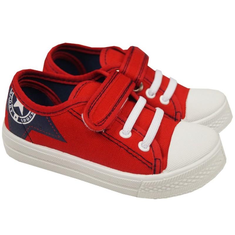スター柄物ベルクロリネンスポーツ靴-その他靴問屋・仕入れ・卸・卸売り