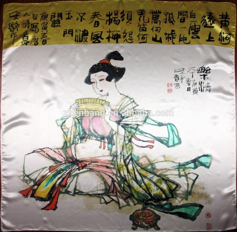 工場直接女性高級カスタムデジタル印刷されたシルクスカーフ-シルクスカーフ問屋・仕入れ・卸・卸売り
