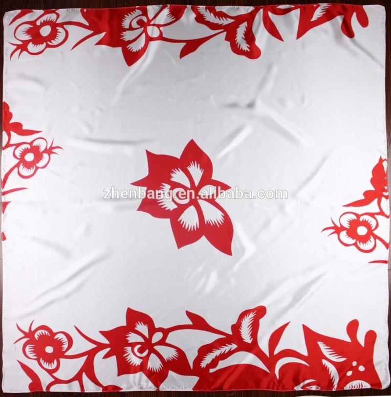 カスタムデジタル印刷工場直接ラグジュアリー魔法の絹のスカーフ-シルクスカーフ問屋・仕入れ・卸・卸売り