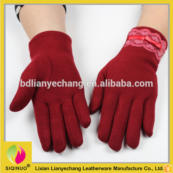 2016赤スマートタッチスクリーン手袋で奥付ためセールスプロモーション-問屋・仕入れ・卸・卸売り
