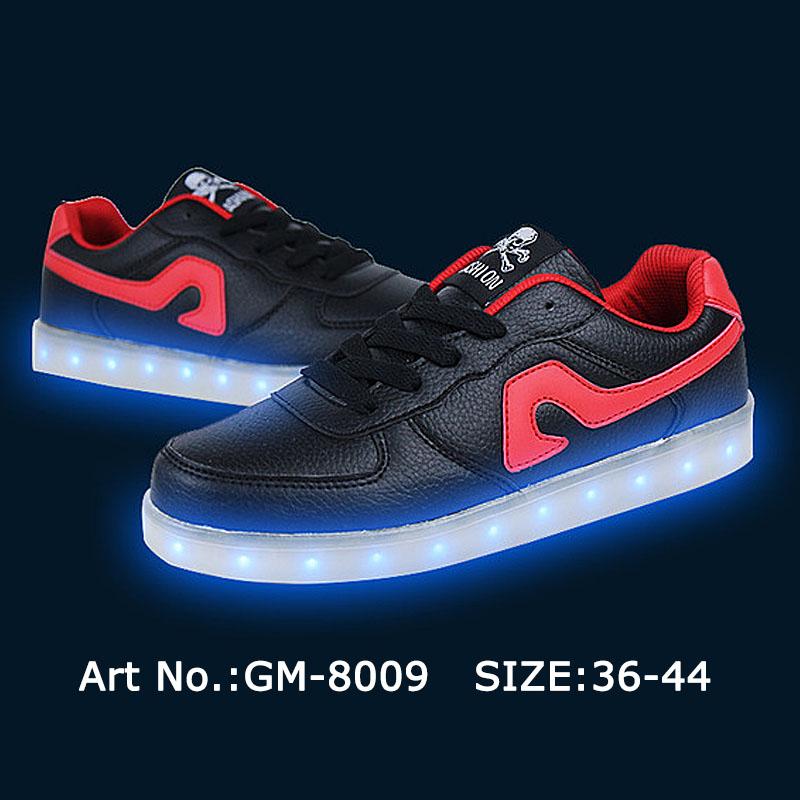 シャイニングブラックunisexeグロー率いる靴-スポーツシューズ問屋・仕入れ・卸・卸売り