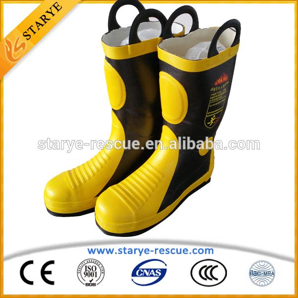 ce認証取得6層保護された消防士の使用済み安全ブーツ-安全靴問屋・仕入れ・卸・卸売り