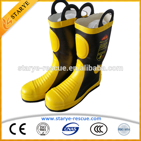 使用される耐火良い品質消防消防士のブーツ-安全靴問屋・仕入れ・卸・卸売り