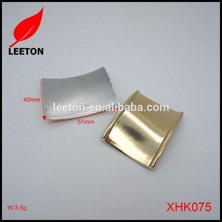 ファッションシンプルなプラスチック光沢のあるゴールド長方形ベルトバックル-シューズデコレーション問屋・仕入れ・卸・卸売り