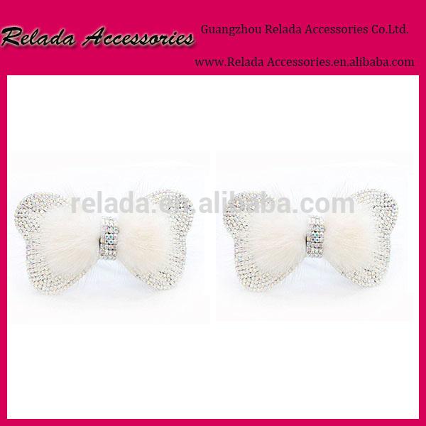 結婚式白い弓フラワーシュークリップ白ブライダルアクセサリーブライダルシュークリップの靴の弓の花-シューズデコレーション問屋・仕入れ・卸・卸売り