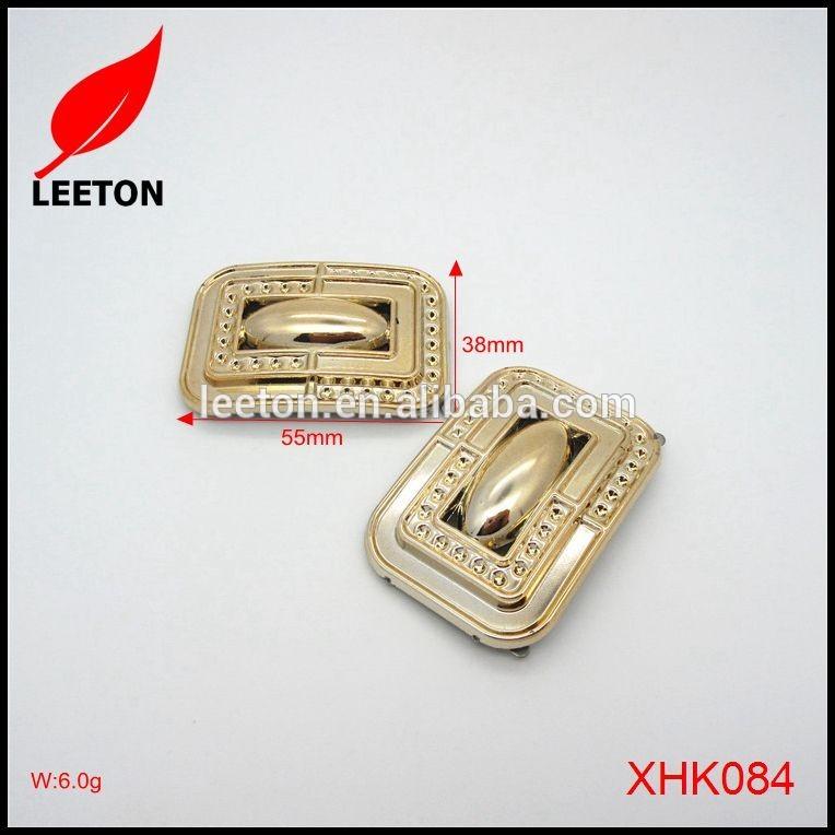 使用のためのリボンプラスチック光沢のあるゴールド長方形ベルトバックル-シューズデコレーション問屋・仕入れ・卸・卸売り