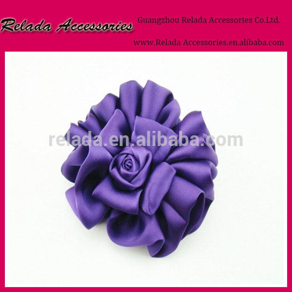 熱い販売の靴の花/紫ファブリックフラワーシュークリップ卸売-シューズデコレーション問屋・仕入れ・卸・卸売り