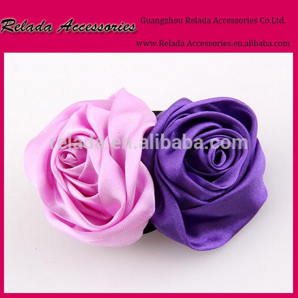 バラの花のブローチ/diyのファブリックのサテンリボンの花のヘッドバンド靴アクセサリー頭飾り-シューズデコレーション問屋・仕入れ・卸・卸売り