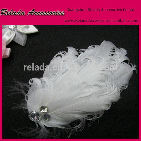 ファッションヴィンテージハンドメイドのブライダル白い羽の靴用クリップ-シューズデコレーション問屋・仕入れ・卸・卸売り