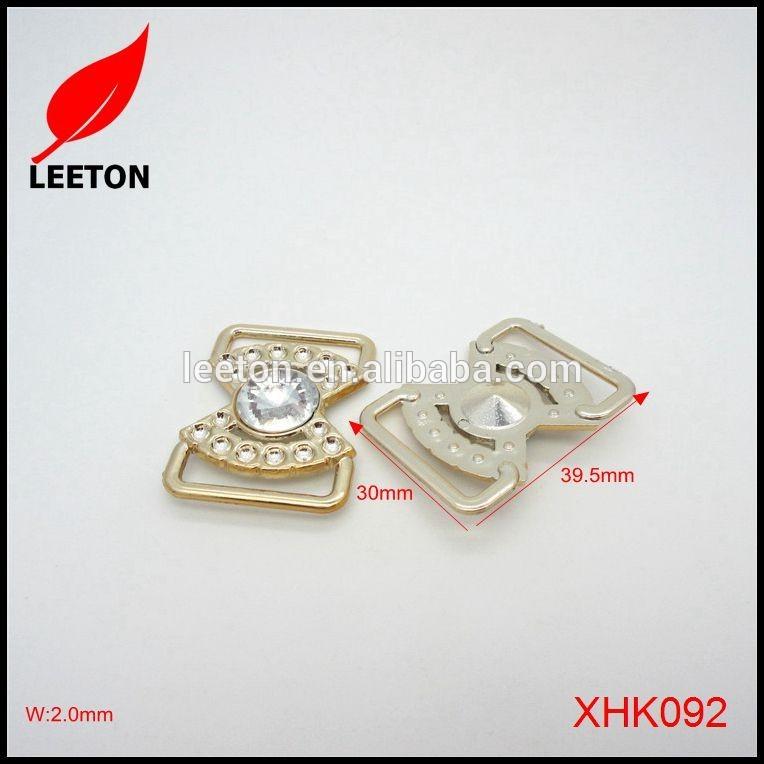 人気のプラスチック白ラインストーン光沢のあるゴールド長方形靴バックル-シューズデコレーション問屋・仕入れ・卸・卸売り