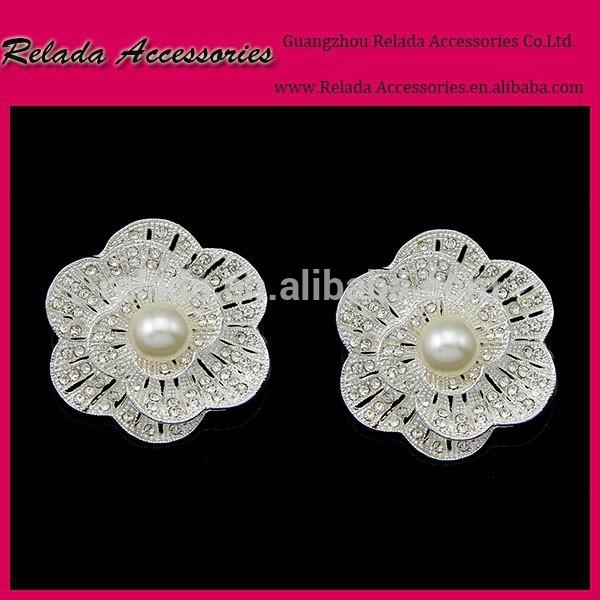 結婚式のアクセサリーの金属pearlshoeシュークリップバックルラインストーン付き真珠の服のシュークリップrld00129rsc用アクセサリー-シューズデコレーション問屋・仕入れ・卸・卸売り
