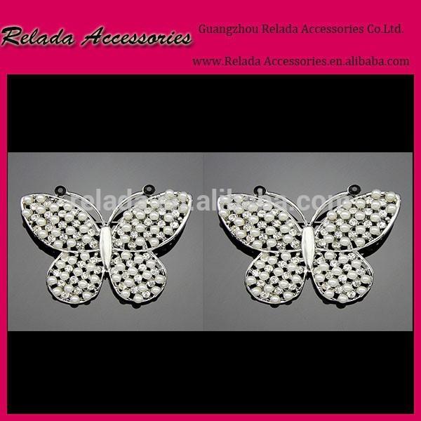 蝶のシュークリップのための販売の水晶高- かかとのブライダル用靴の付属品の金属のファッションrld00132rscブライダル結婚式の装飾-シューズデコレーション問屋・仕入れ・卸・卸売り