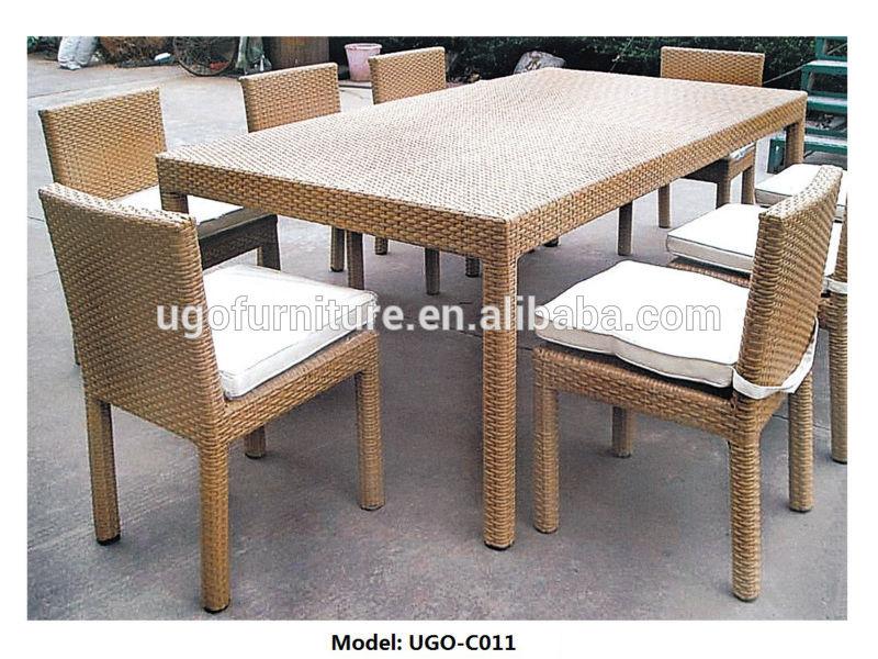 Peの籐家具屋外/屋内ダイニングテーブル・チェアセット-ガーデンセット問屋・仕入れ・卸・卸売り