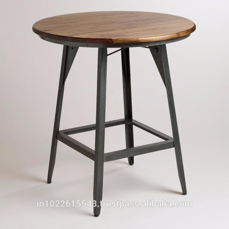 カフェ家具アンティークラウンドウッドパブテーブル、使用家具用カフェ、アンティーク木製ラウンドテーブル、-その他木製家具問屋・仕入れ・卸・卸売り