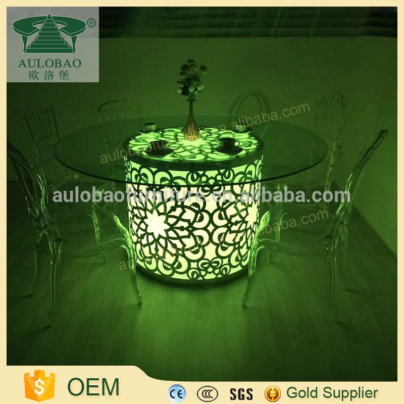 中国frunitureドバイ使用結婚式ガラスラウンドテーブル-食卓問屋・仕入れ・卸・卸売り