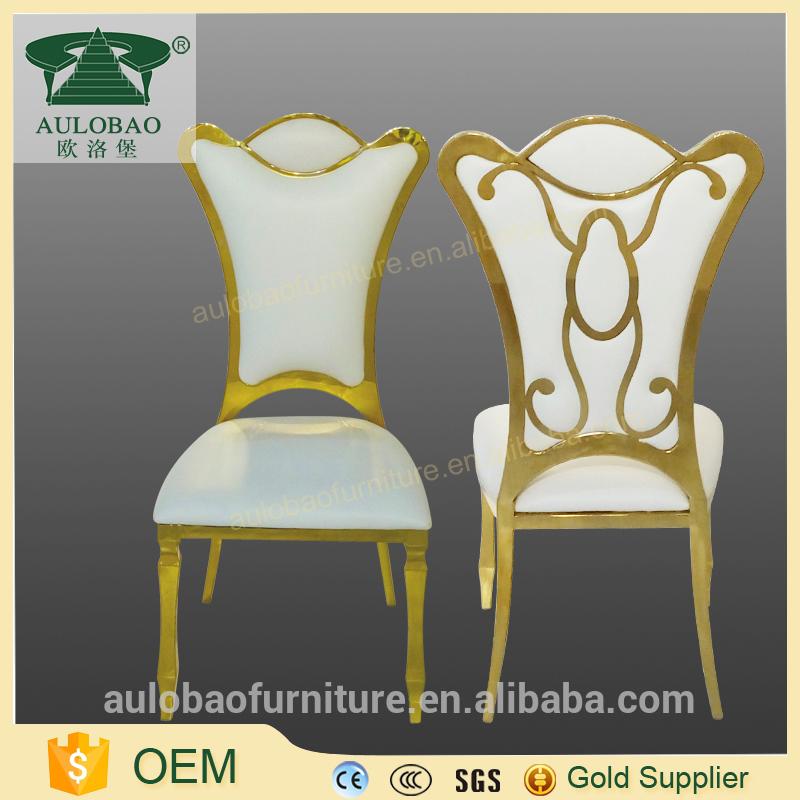 現代のウェディング宴会ゴールド王室王位椅子用販売-金属製椅子問屋・仕入れ・卸・卸売り