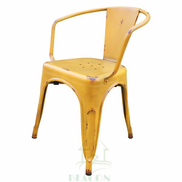 産業ヴィンテージ屋外スタッキングtolisダイニングチェア-金属製椅子問屋・仕入れ・卸・卸売り