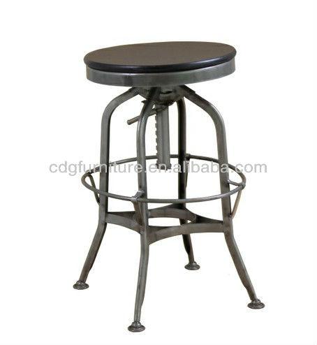 スイベルヴィンテージ工業用のバーのスツール-金属製椅子問屋・仕入れ・卸・卸売り