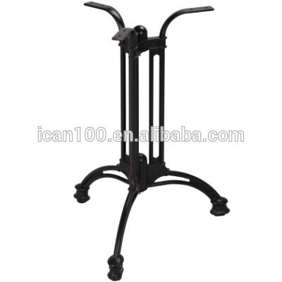 黒色粉体塗装完成テーブルキャストアルミベースで3爪-家具用脚問屋・仕入れ・卸・卸売り