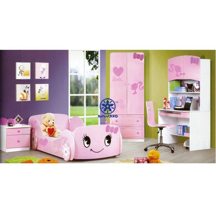 子供のカーベッドルームセット1021王女の寝室セット-子供用家具セット問屋・仕入れ・卸・卸売り