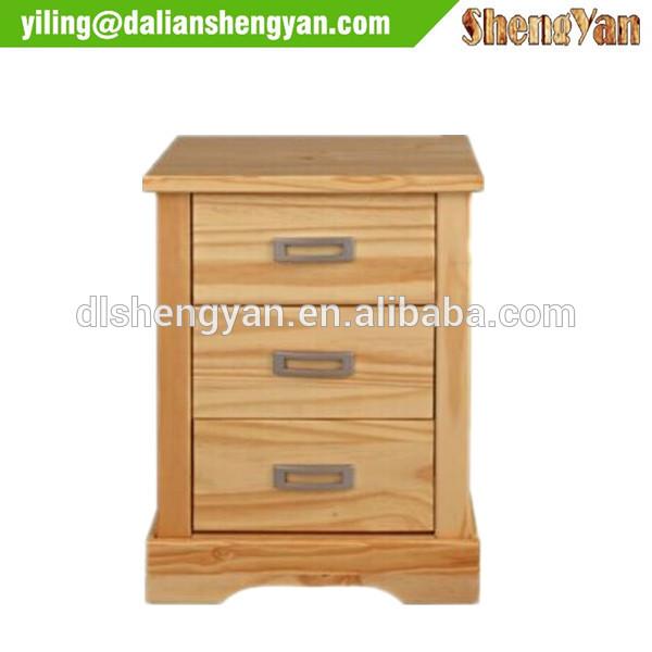 近代的な3引き出し木製パイン材3- 引き出し木製ナイトスタンド-ワードローブ問屋・仕入れ・卸・卸売り