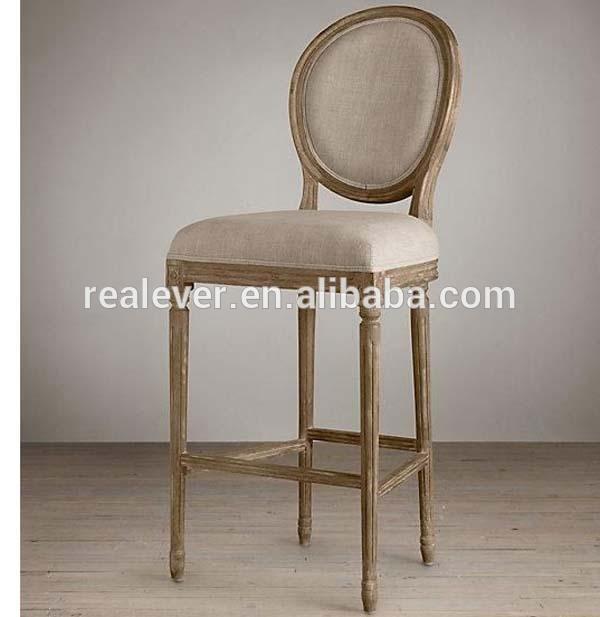 フレンチカントリースタイルの古典的なバーのスツールオーク木ルイ-木製椅子問屋・仕入れ・卸・卸売り
