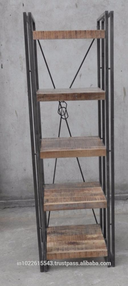 工業ブックシェルフ、 産業スタイルのホーム家具リビングルームの本棚家具書棚-その他木製家具問屋・仕入れ・卸・卸売り