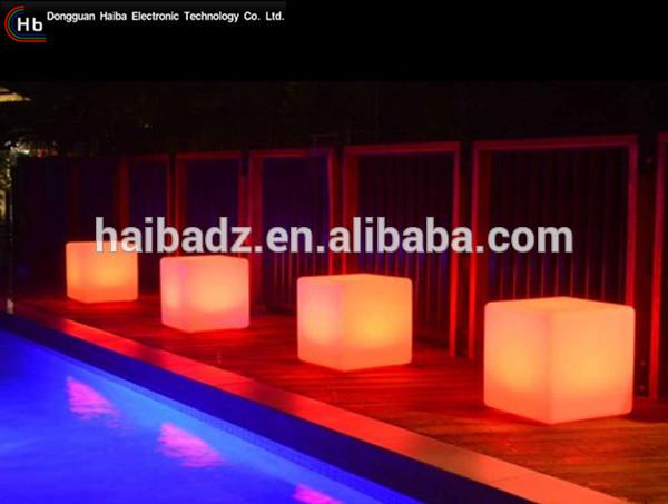 庭屋外照らさプラスチック光るledキューブシートとテーブルから中国-その他バー家具問屋・仕入れ・卸・卸売り