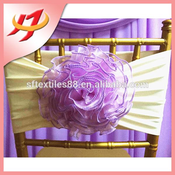 かなり安いスパンデックスライクラ素材高品質の花の椅子カバーサッシ-サッシュ問屋・仕入れ・卸・卸売り