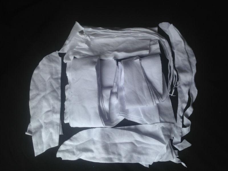綿100%白ニットクリップ-紡織ウエイスト問屋・仕入れ・卸・卸売り