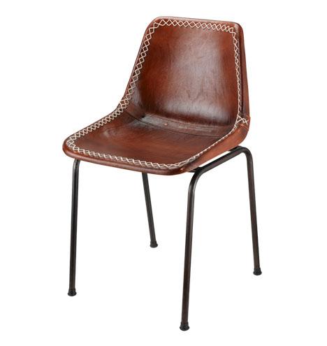 アンティークgiron鉄&レザーダイニングチェア、 産業革金属椅子-本革問屋・仕入れ・卸・卸売り