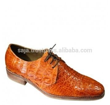のワニ革の靴男性用smcrs- 017-皮革製品問屋・仕入れ・卸・卸売り