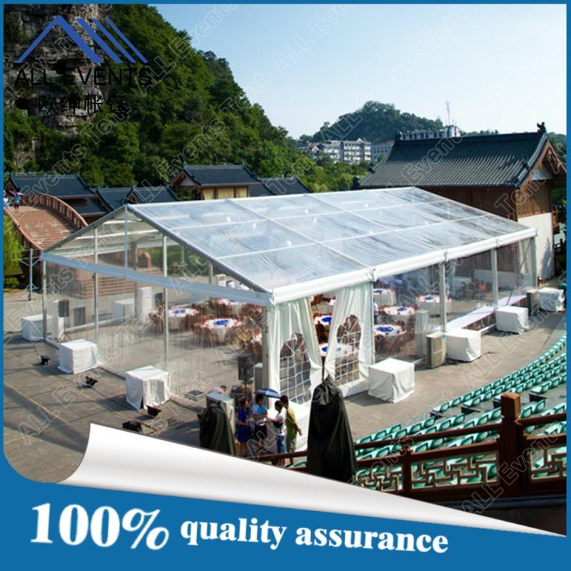 安いパーティー大きな/付き結婚式のテントの屋根と側壁クリア-展示会用テント問屋・仕入れ・卸・卸売り