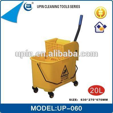 耐久性のあるプラスチッククリーニングトローリーup-060ホテル用-清掃用カート問屋・仕入れ・卸・卸売り