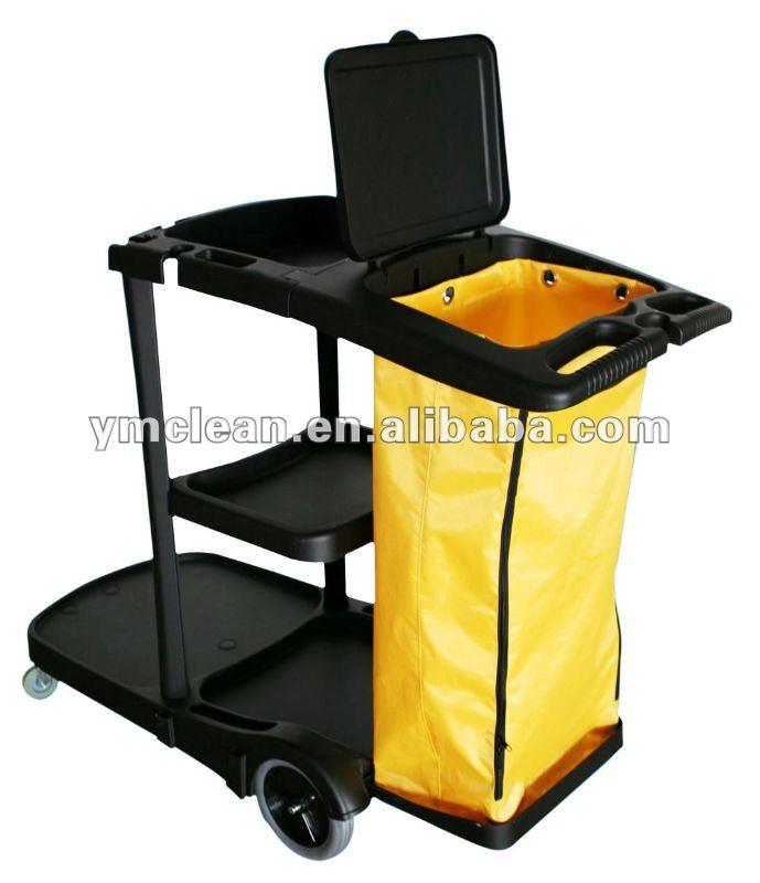 Y1522カバーが付いている多機能のクリーニングのカート(管理人のカート)-清掃用カート問屋・仕入れ・卸・卸売り
