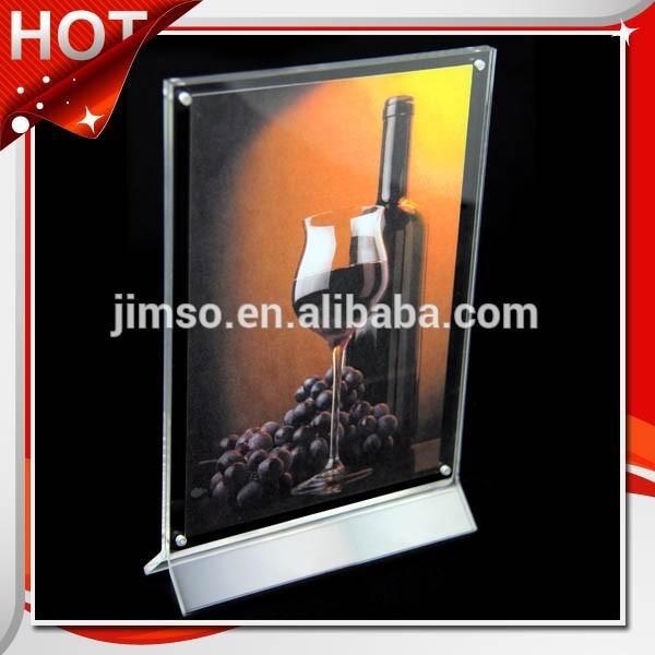 垂直デスクトップマグネットa4アクリルディスプレイスタンド、ディスプレイホルダー-ディスプレイラック問屋・仕入れ・卸・卸売り
