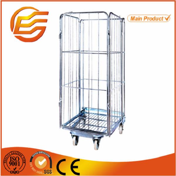欧州物流ショッピングトロリースタッカブルリジッド亜鉛ワイヤーケージ-貨物、保管設備問屋・仕入れ・卸・卸売り