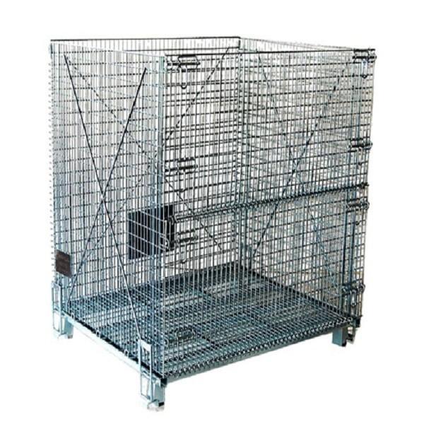 スタッカブル金網折りたたみ式スチール製のケージコンテナパレットカスタマイズされたサイズ-貨物、保管設備問屋・仕入れ・卸・卸売り