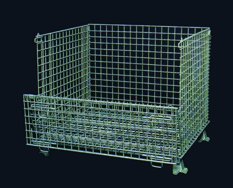 ppシートを持つカスタマイズされたサイズ高品質耐久性のあるスチールワイヤーストレージケージ-貨物、保管設備問屋・仕入れ・卸・卸売り