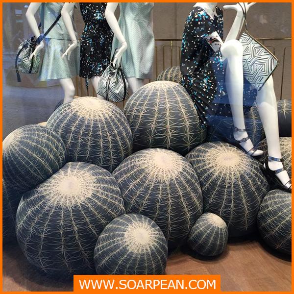 ウィンドウディスプレイ用の人工的なサボテンの植物-造花問屋・仕入れ・卸・卸売り