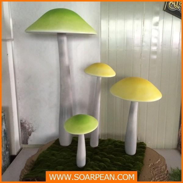 カスタムグラスファイバーキノコ、 グラスファイバーの植物の装飾のための-造花問屋・仕入れ・卸・卸売り