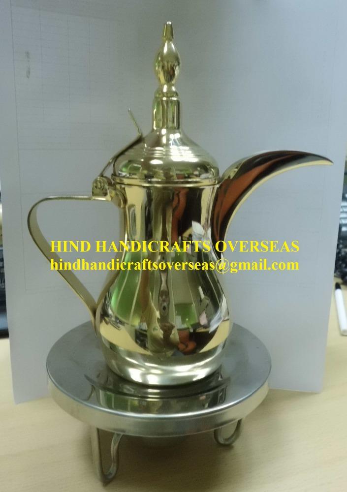 真鍮アラビアdallah茶コーヒーポットメーカーからインド-コーヒーセット、ティーセット問屋・仕入れ・卸・卸売り
