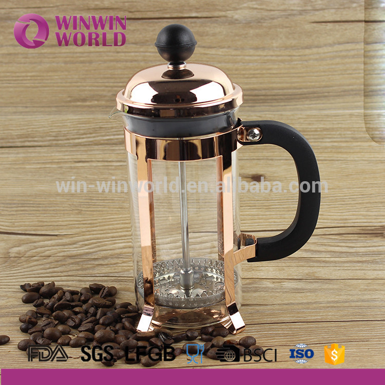 高品質の銅色コーヒーフレンチプレスステンレス鋼メーカー1l-コーヒーセット、ティーセット問屋・仕入れ・卸・卸売り